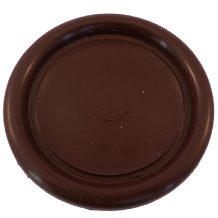 Castor Cups Brown Plastic 6.8cm